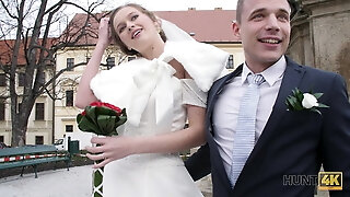 HUNT4K. Married duo determines to sell bride's cooter for excellent